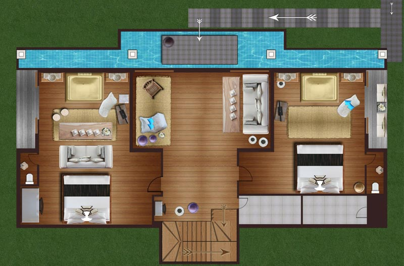 Holiday Home Builders Floor Plans: Samui Holiday Homes- Villa Belle Floor Plans, Koh Samui