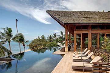 Samui Holiday Homes presents private luxury beach house at Baan HinTa, Koh Samui, Thailand