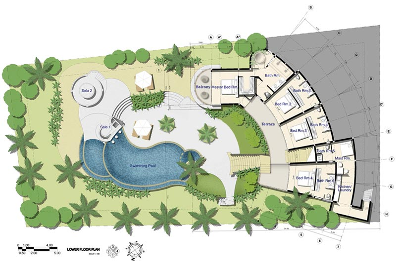 Samui holiday homes villa kya floor plans koh samui for Holiday home builders floor plans