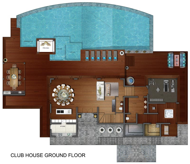 Samui holiday homes villa riva floor plans koh samui for Holiday house plans
