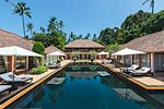 Baan Wanora- a luxurious private beach villa vacation rental on Koh Samui, Thailand.